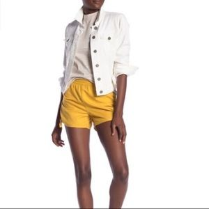 NWOT Madewell Side-tie Shorts in Greek Gold